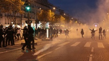 French police use tear gas to disperse protest against slave auctions in Libya (VIDEO)