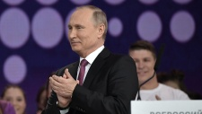 'Will you support me?? Putin teases adoring crowd before announcing re-election bid (VIDEO)