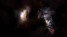 Galaxy pair contain dark matter halo at least 1 trillion times the sun's mass - study